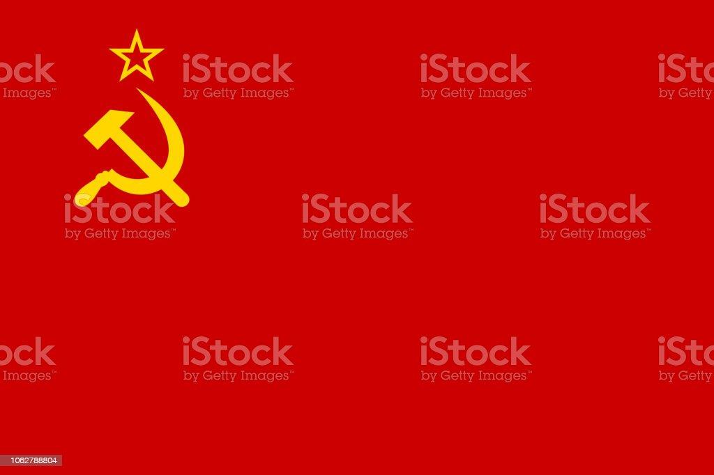 Vector Historical flag vector art illustration