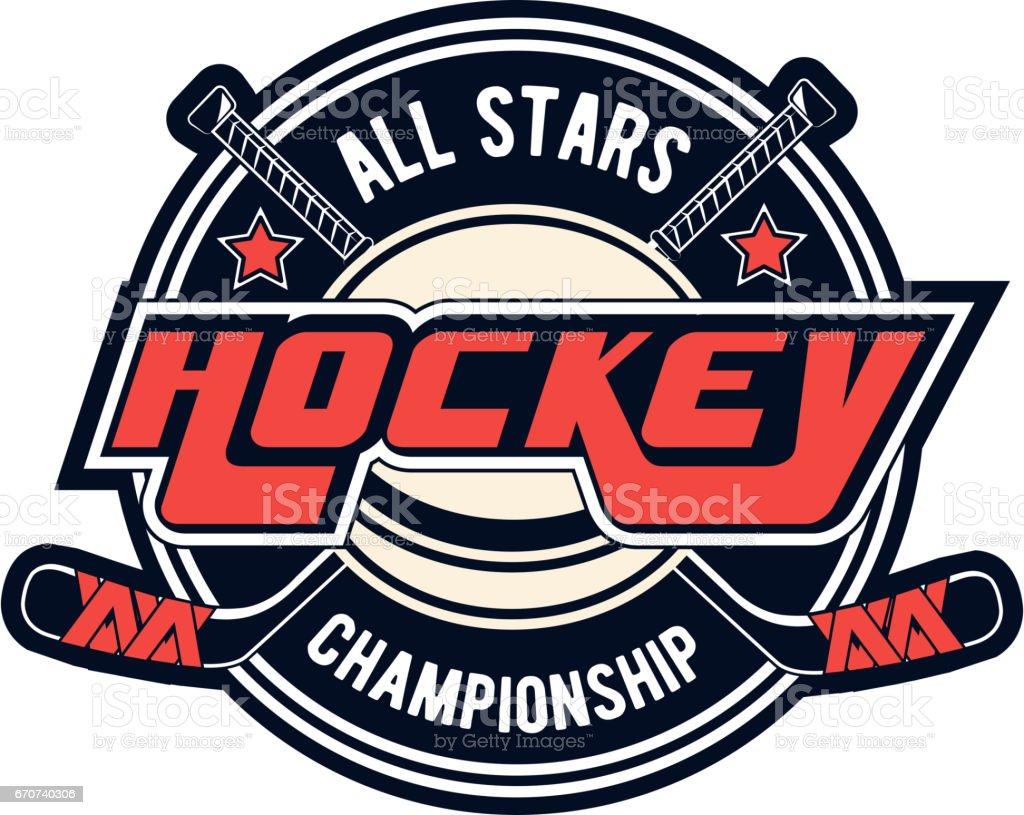 Vector hockey design for print design, advertisement, web on white background vector art illustration