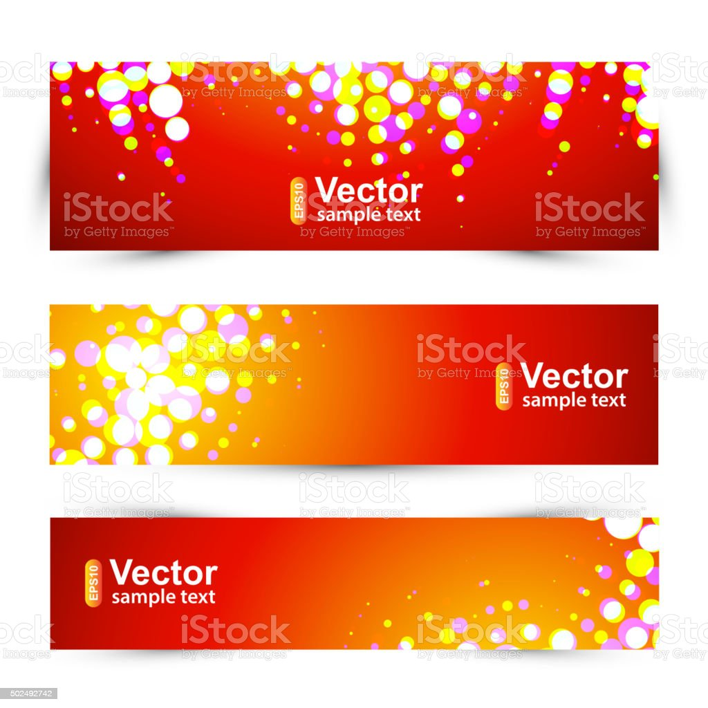 Vector holidays banner vector art illustration