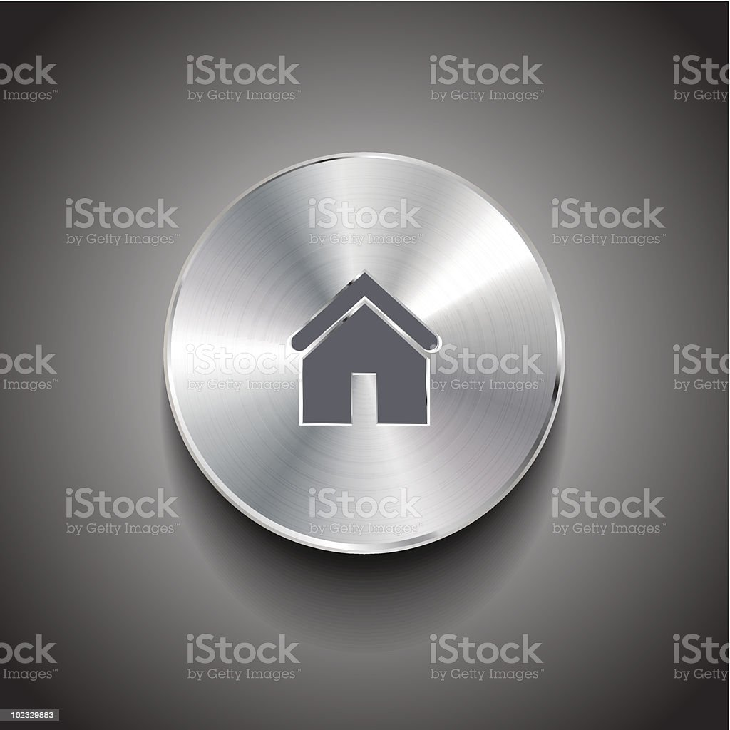 Vector home button royalty-free stock vector art