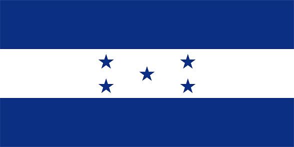 Vector Honduran Flag Design
