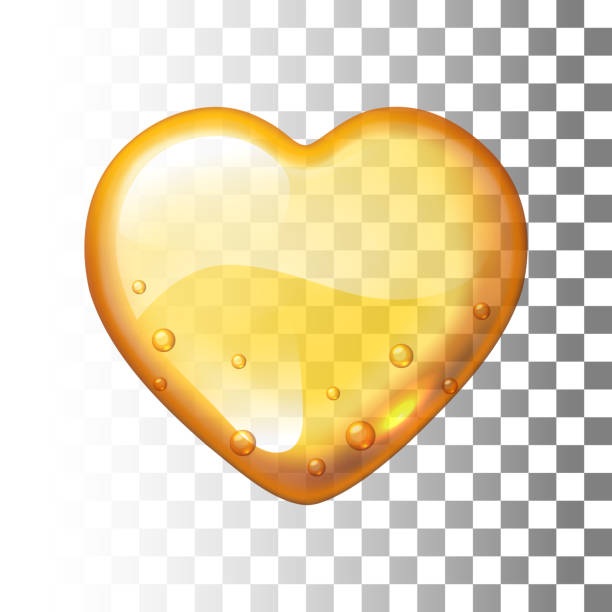 Vector honey heart on transparent background Vector honey heart on transparent background. Eps10. RGB. Global colors maple syrup stock illustrations