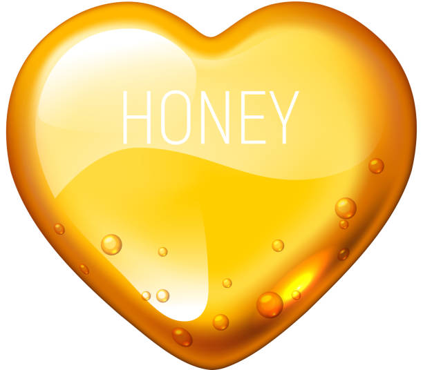 Vector honey heart on white background Vector honey heart on white background. Eps10. RGB. Global colors maple syrup stock illustrations