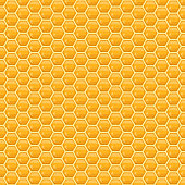 Vector honeycomb seamless pattern or background for honey product packaging, branding and identity.