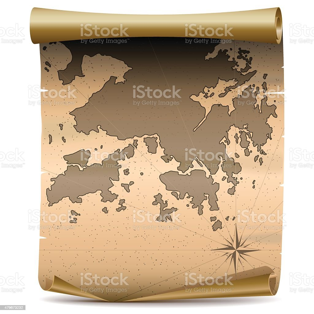 Vector Hong Kong Vintage Map vector art illustration