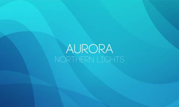 illustrazioni stock, clip art, cartoni animati e icone di tendenza di vector horizontal abstract backgrounds of northern lights, aurora borealis in blue color. - aurora boreale