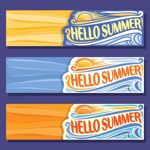 Vector horizontal banners for Summer season vector art illustration