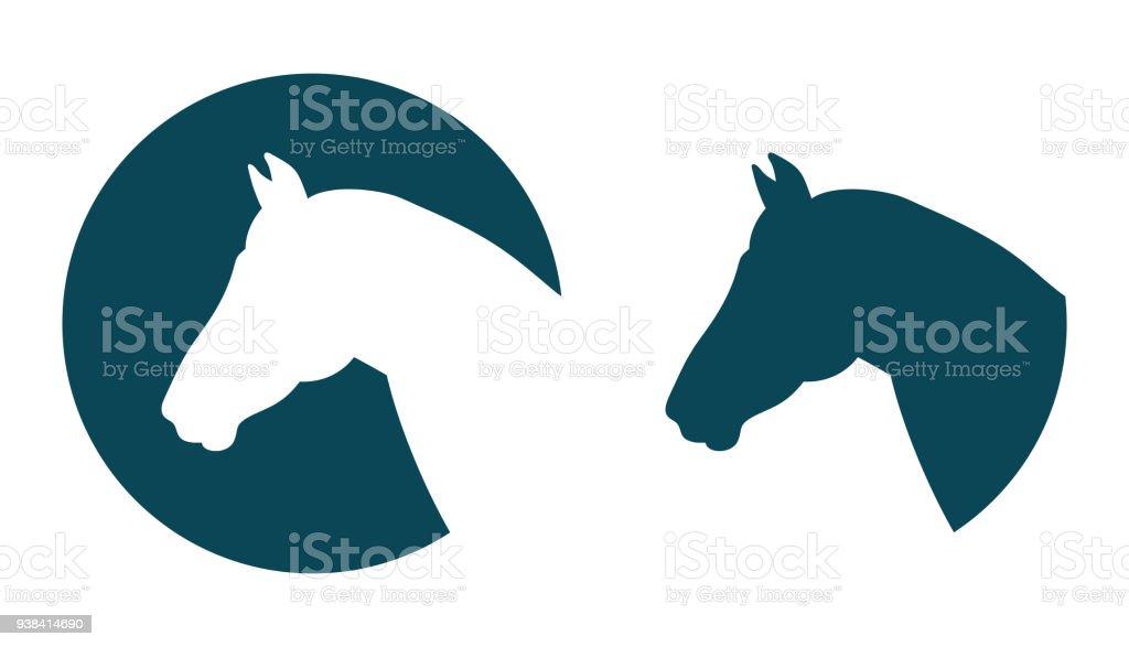 Vector horse head icon vector art illustration