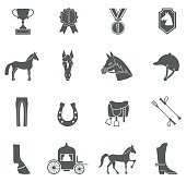 Vector Horse icons set.