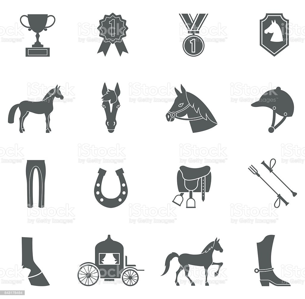 Vector Horse icons set. vector art illustration