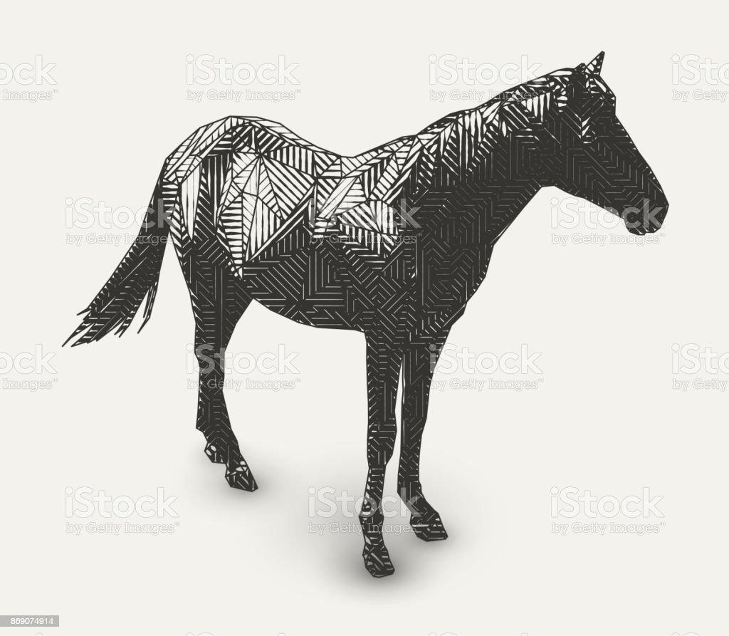 Vektorillustration häst vektorkonstillustration