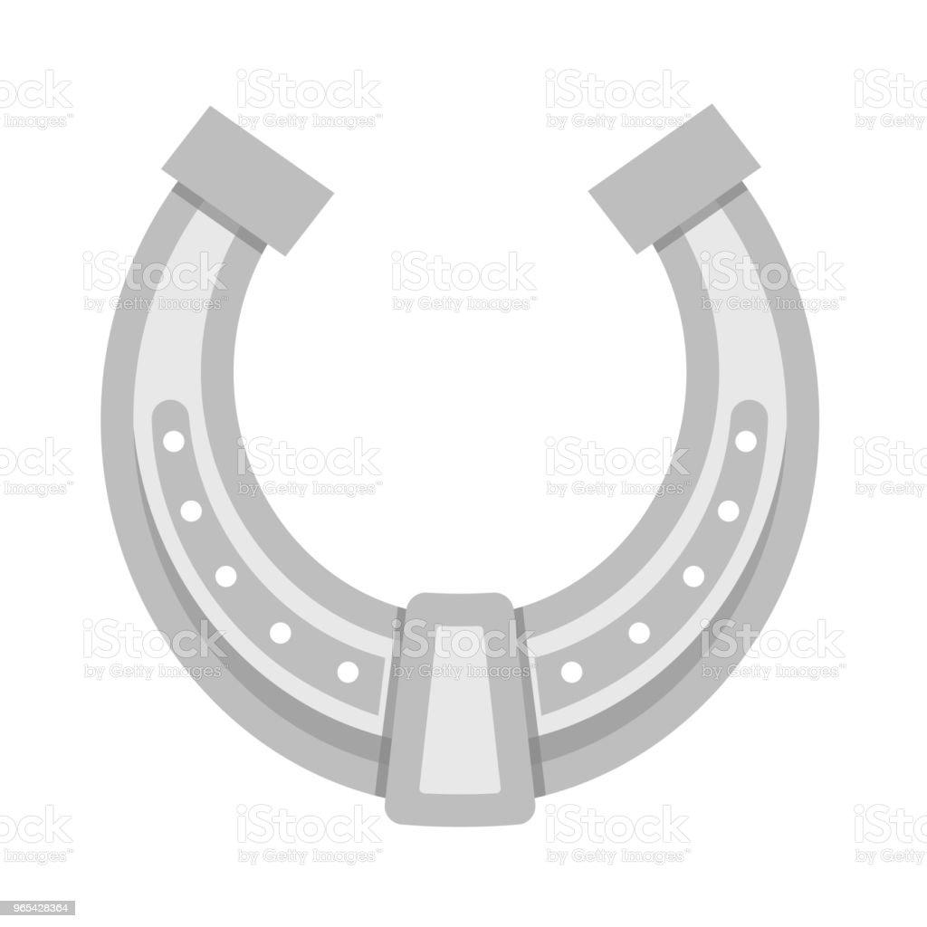 Vector Horseshoe isolated on white background Illustration vector horseshoe isolated on white background illustration - stockowe grafiki wektorowe i więcej obrazów abstrakcja royalty-free