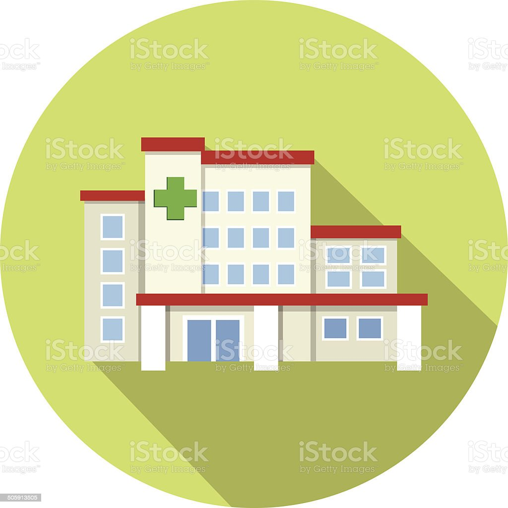Vector Hospital Building vector art illustration