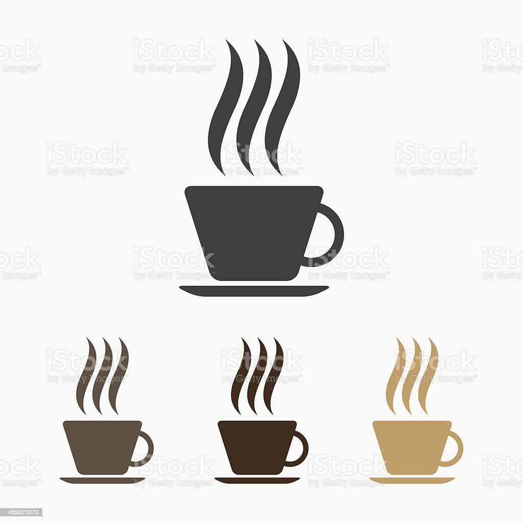 Vector hot coffee icon vector art illustration