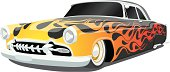 Vector Hot Rod with Flames