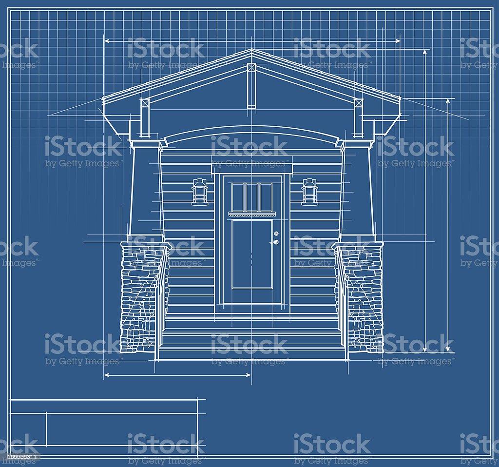 Architectural design blueprint vector house front elevation architectural design blueprint vector house front elevation blueprint royalty free stock art architectural design malvernweather Images