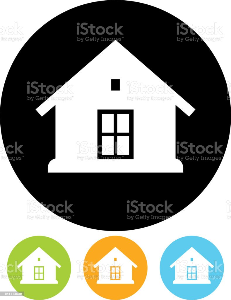 Vector house icon royalty-free stock vector art