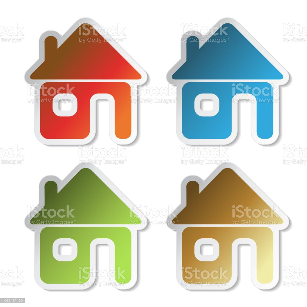Vector house sticker, symbol of home for home e-mail royalty-free vector house sticker symbol of home for home email stock vector art & more images of adhesive note