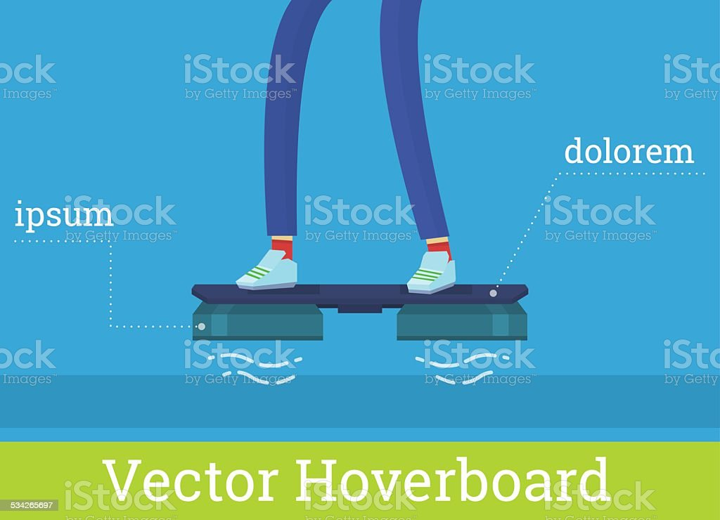 Vector hover board illustration vector art illustration