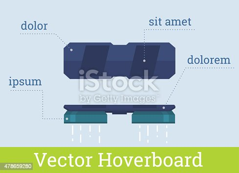 istock Vector hover board infographic flat illustration 478659280