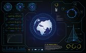 vector hud ui interface cyber global tech innovative concept background