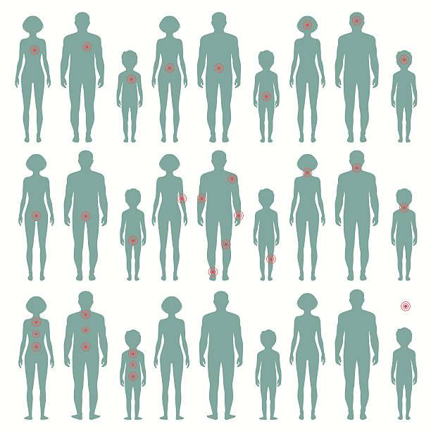 vector human  anatomy, pain vector art illustration