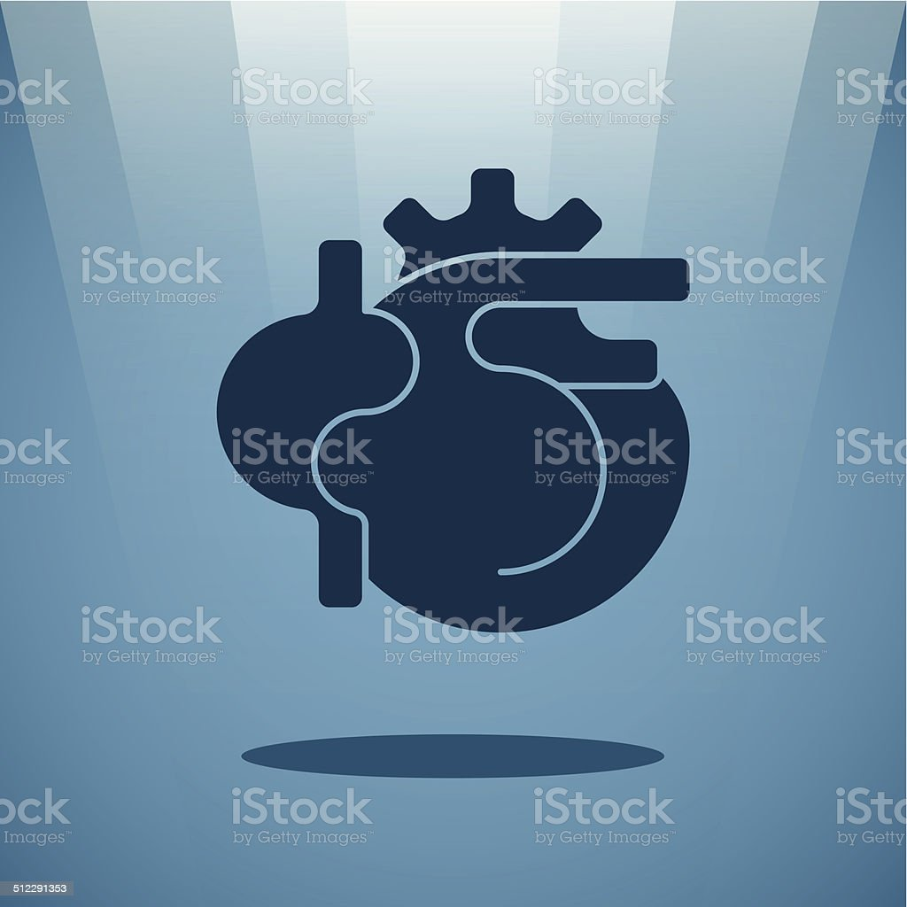 Vector human heart concept vector art illustration
