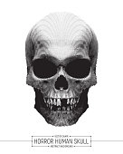 Vector Human Horror Skull