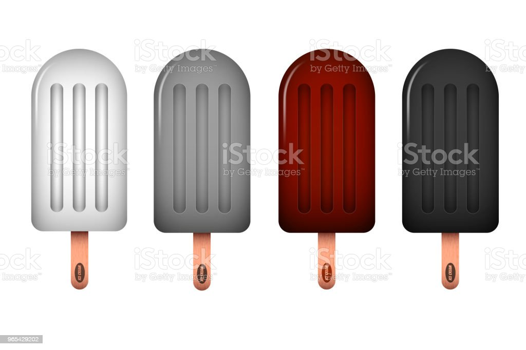 Vector Ice cream icon set. Vector illustration royalty-free vector ice cream icon set vector illustration stock vector art & more images of brown