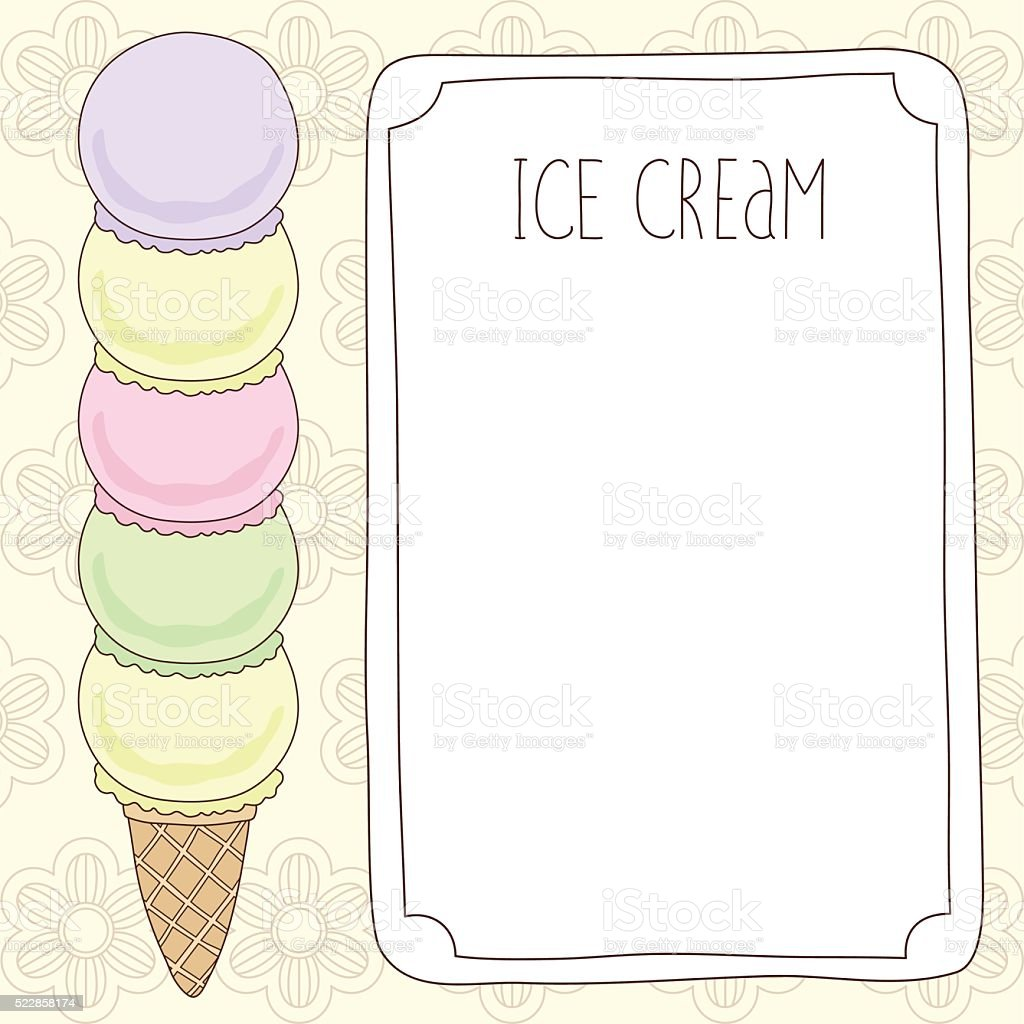 Vector Ice Cream Template Stock Vector Art & More Images of ...