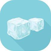 Blocks of ice long shadow design icon.