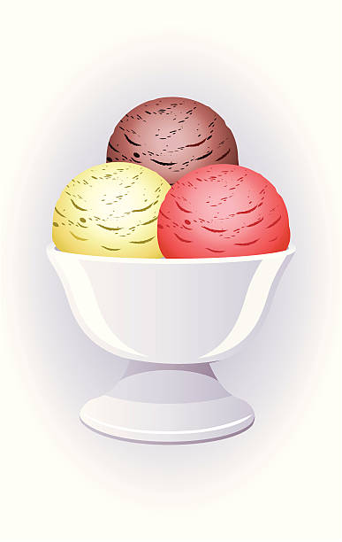Best Bowl Of Ice Cream Illustrations, Royalty-Free Vector ...