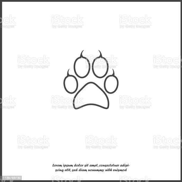Vector icon animal paw imprint paw illustration on white isolated vector id1139789730?b=1&k=6&m=1139789730&s=612x612&h=ffbvh hemetykv7hbmrdsigtpe20olvfeqxf d5evoq=