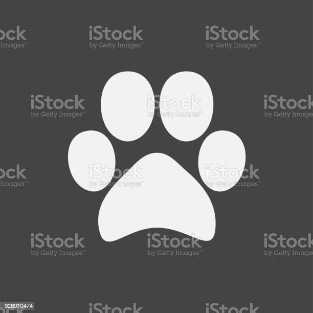 Vector icon animal paw imprint paw illustration vector id926010474?b=1&k=6&m=926010474&s=612x612&h=isyortix9b1ba4fo2sjzatmrxr0b8bcjjcr9b4t2gma=