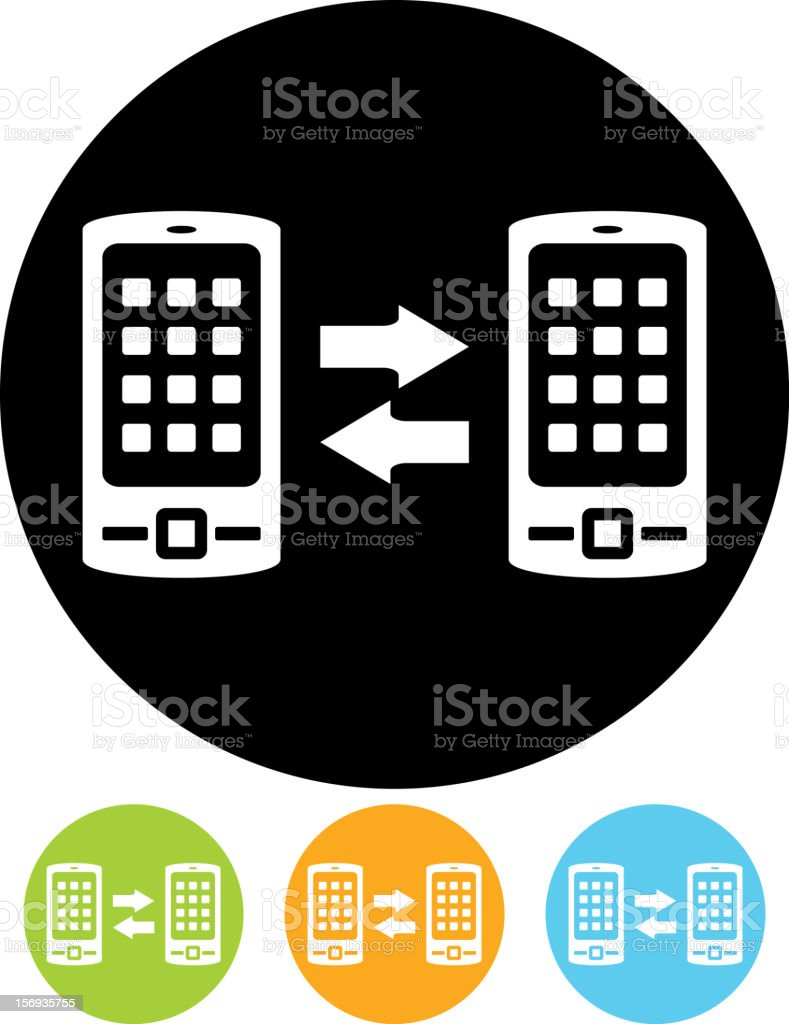 Vector icon - Bluetooth mobile phone connection royalty-free vector icon bluetooth mobile phone connection stock vector art & more images of bluetooth