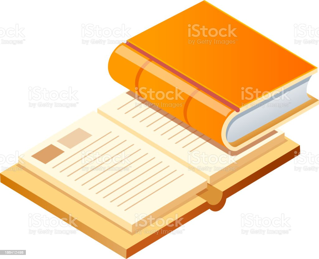 vector icon books royalty-free stock vector art
