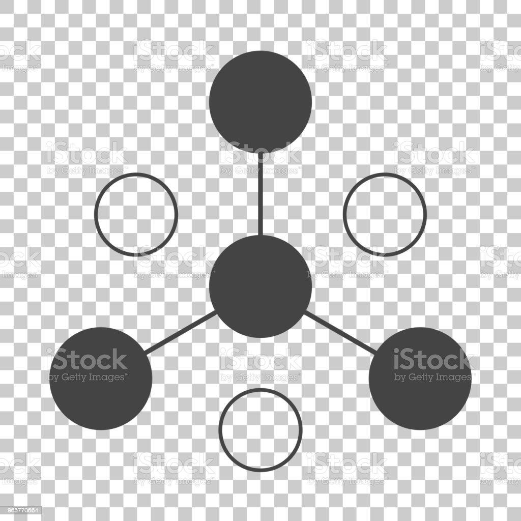 Vector pictogram business netwerk bestaande uit meerdere gebruikers. Pictogram communicatie - Royalty-free Bedrijfsleven vectorkunst
