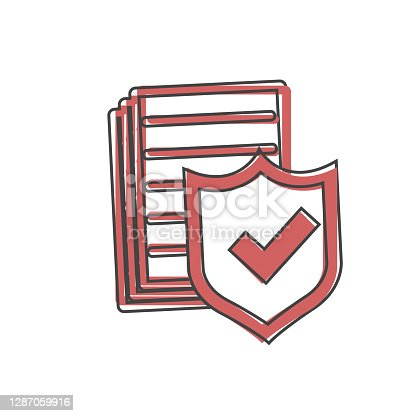 Vector icon check board on white isolated background. Data security, insurance policy. Layers grouped for easy editing illustration. For your design.