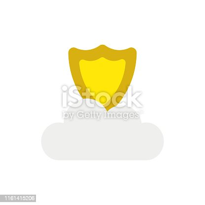 istock Vector icon concept of guard shield on cloud 1161415206