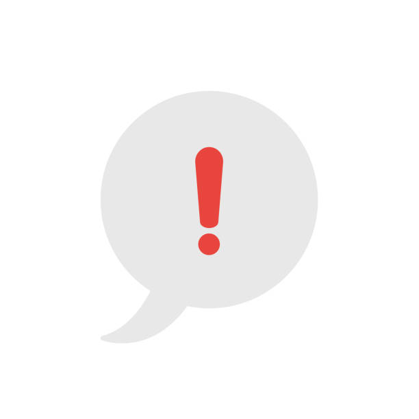 Vektorsymbolkonzept der Sprechblase mit Ausrufezeichen – Vektorgrafik