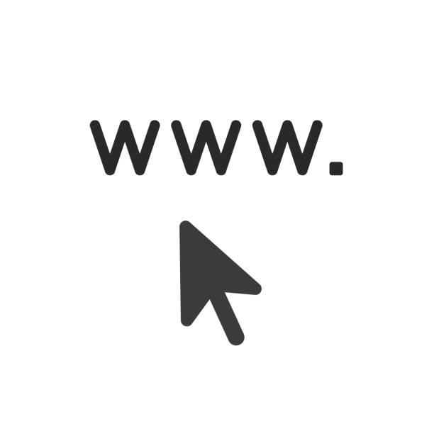 Vektor-Icon-Konzept von www. mit Mauszeiger – Vektorgrafik
