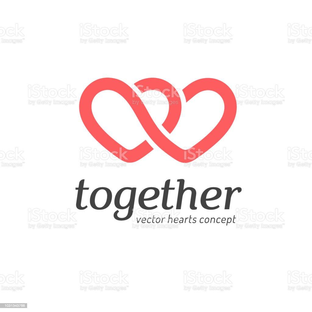 Vector icon, design concept. Hearts icon vector art illustration