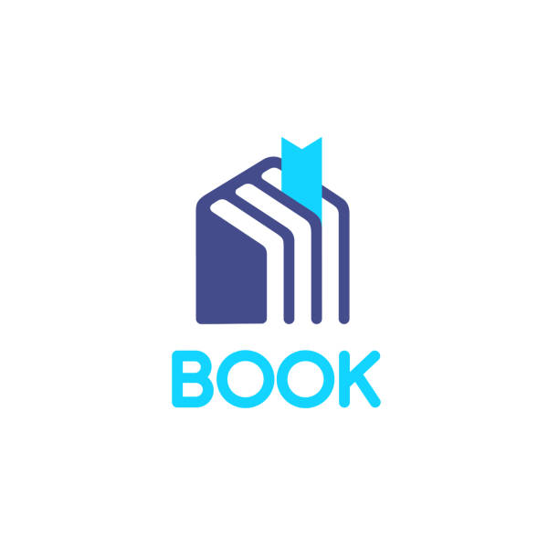 Vector icon design for books store. Book house vector art illustration