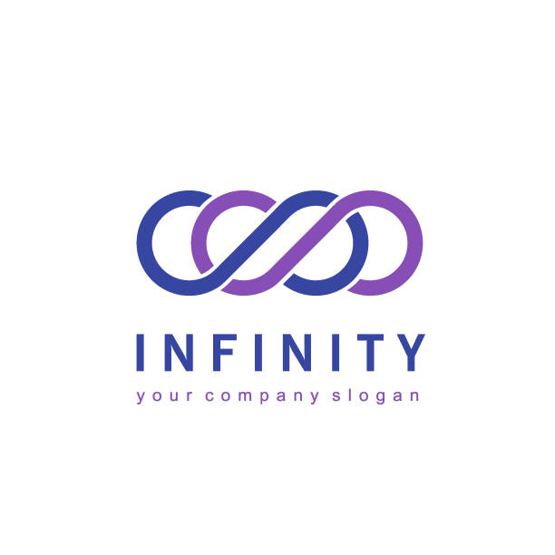 Vector icon design for business. Infinity sign vector art illustration