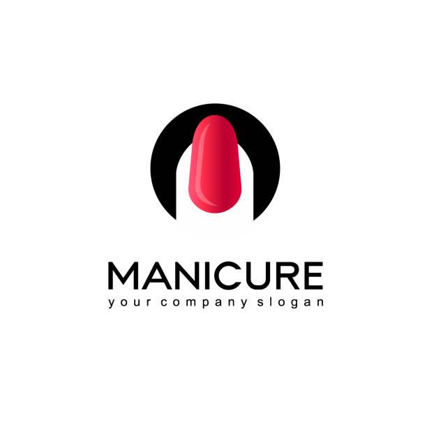 Vector icon design for manicure and nail salon vector art illustration