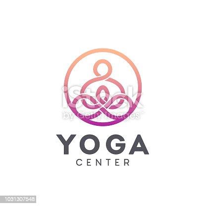 Vector icon design for yoga center