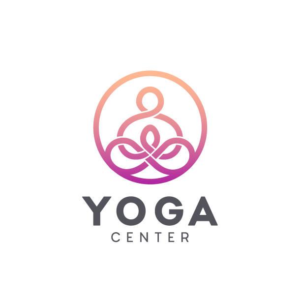 Vector icon design for yoga center vector art illustration