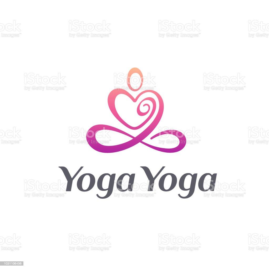 Vector icon design for yoga studio. Yoga icon