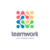 Vector icon design for your business. Team Work.
