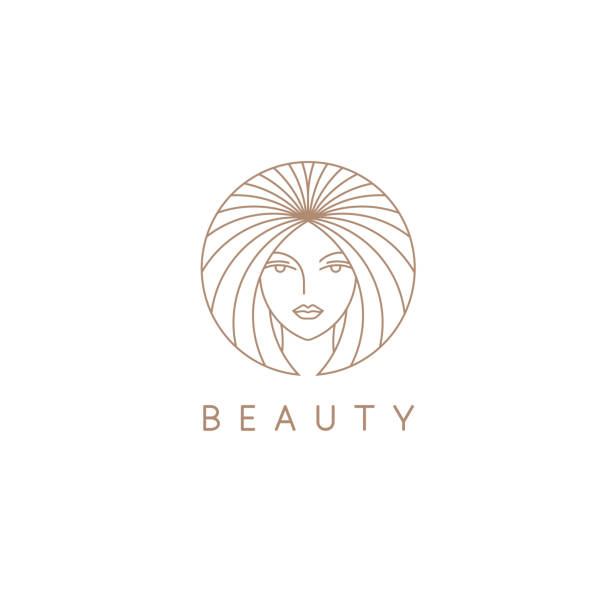 Vector icon design template for beauty salon, hair salon, cosmetic vector art illustration